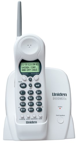 Uniden EXI376 900 MHz Cordless Phone with Call Waiting/Caller ID (Ivory)