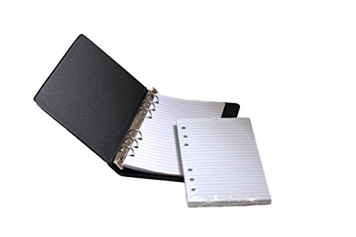 "HNR essentials Loose-Leaf Memo Book, 6 3/4 x 3 3/4"", 6-Ring Binder, 80 Pages + Free Refill 80 Pages"