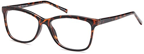 DALIX Womens Prescription Eyeglasses Frames 54-16-135-39 RXable in Tortoise - Online Eyeglasses Frames