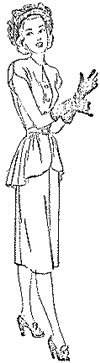 1947-48 Misses' and Women's Two-Piece Dress with Peplum