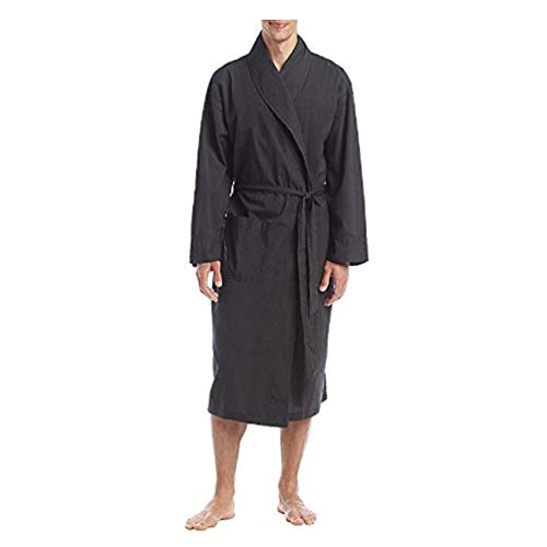 - Hanes Big Men's Woven Shawl Collar Robe, Black, 3X-Large/4X-Large