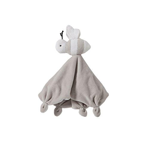 1st Baby Blanket (Burt's Bees Baby - Hold Me Bee Lovey Plush, 100% Organic Cotton (Grey))