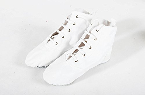 Sole Dance BININBOX Modern Split White Canvas Jazz Shoes Shoes Ballet Heels Womens S1qTwU