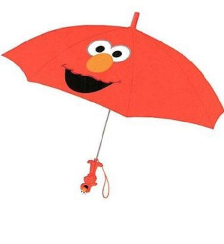 (Sesame Street Elmo Collapsible Umbrella With 3D Handle)