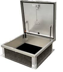 30 x 36 Galvanized Roof Hatch With Safety Post by RHG