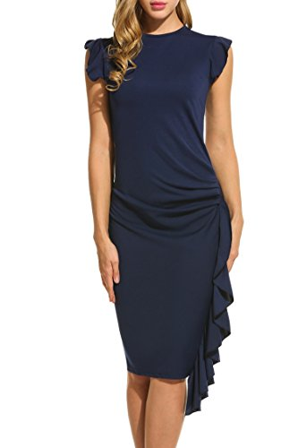 HOTOUCH Ruffles Capsleeve Business Bodycon product image