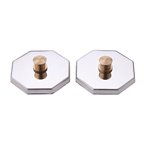 2Pcs Nail Art Crystal Octagon Cup Cover Stainless Steel Lid Nail Art Tool Nail Beauty