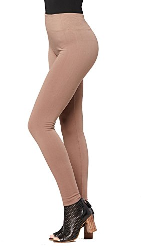 Conceited Fleece Lined Leggings for Women - LFL Mocha - Large/X-Large