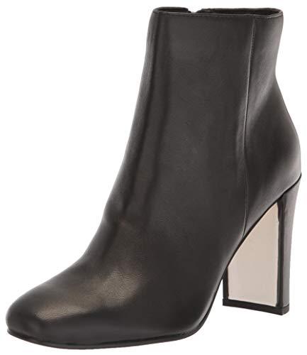 Dolce Vita Women's NILANI Ankle Boot, Black Leather, 10 M US