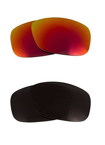 (Moonlighter Replacement Lenses Polarized Black & Ruby Red by SEEK fits OAKLEY)