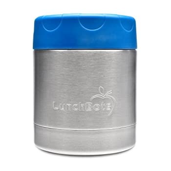 LunchBots Thermal 8 oz. All Stainless Steel Interior - Insulated Food Container Stays Warm for 6 Hours or Cold for 12 Hours - Leak Proof Thermo Soup Jar for Portable Convenience - Royal Blue