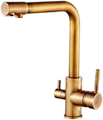 HXC-HXC キッチン浴室の洗面台がバスルームヨーロピアンスタイルのアンティーク流域の蛇口バスルームの洗面台の蛇口レトロホットとコールドの下でカウンター盆地の蛇口をタップタップ 蛇口