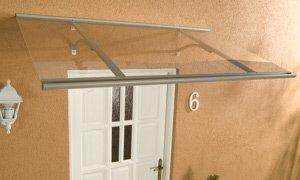 Gut gemocht Alu-Pultvordach Haustürvordach Vordach Klassik Silber 160 x 85 x UJ82