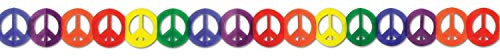 Beistle 57669 1-Pack Peace Sign Garland, 5-3/4-Inch by ()