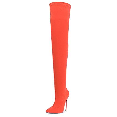 En Étendue Haute Talon Bottes dessus Au Cuisse Stiletto Jambe Du Dames Pointe Genou large Nylon Svelte Lycra Forme Toes q8EwnWF6