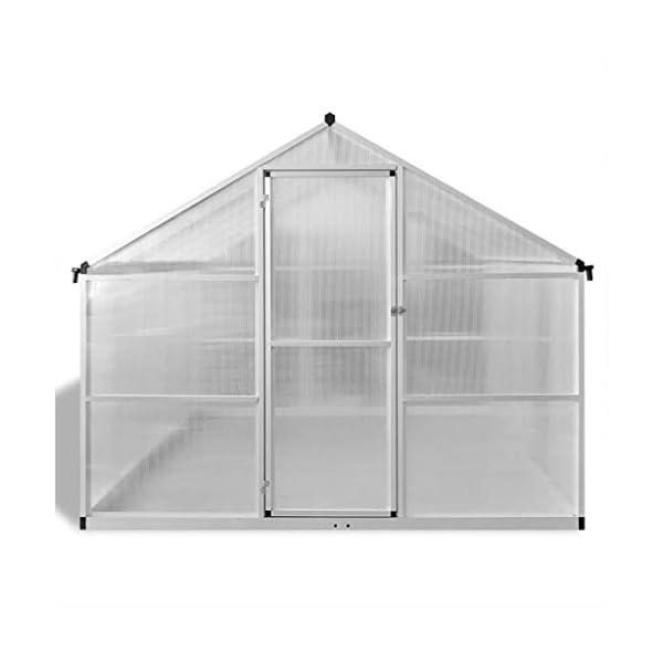 Tidyard Serra in Alluminio Rinforzato con Telaio di Base 7,55 m²,per Piante orto casetta Esterno 3 spesavip