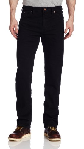 (Dickies Men's Regular Straight Fit 6 Pocket Jean, Rinsed Overdyed Black, 32x30)