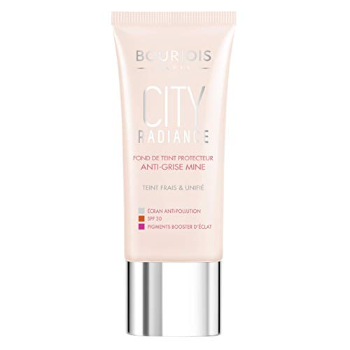 Bourjois City Radiance Skin Protecting Foundation For Women Spf 30, 04 Beige, 1 Ounce