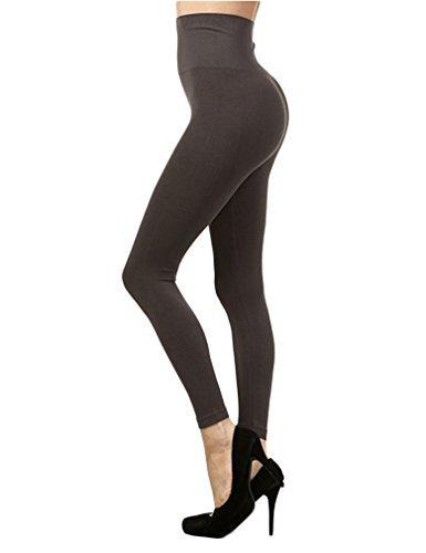 c184bdaed13d9 M. Rena Tummy Tuck High Waist Leggings Dark Grey