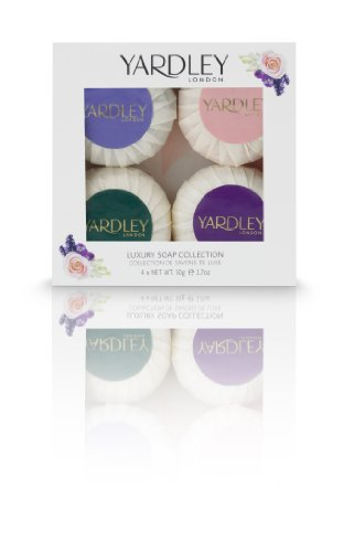 Yardley of London Luxury Soap Collection 4 Piece Gift Set for Women