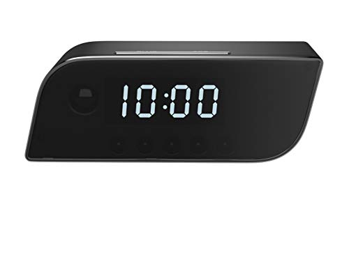Pavlysh wi-fii camera alarm clock with night vision - motion detection nanny camera - loop recording security camera for home surveillance - video recorder real-time - hd 1080p