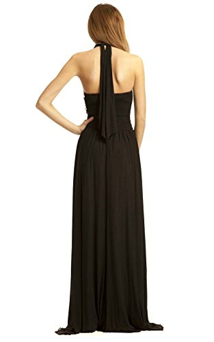 Polly Abend Black IKRUSH Maxi Womens Kleid 5vqZ5H7x