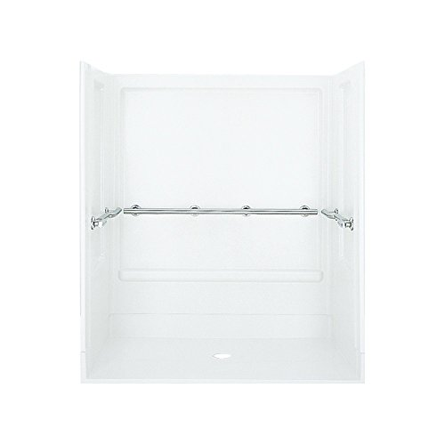 STERLING 62060103-0 Roll-in Shower Kit, 63-Inch x 39-Inch x 72-Inch, - Vikrell Material