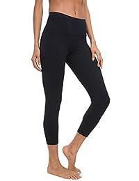 "Queenie Ke Women 22"" Yoga Capris Power Flex Height Waist Pants Tights Legging"