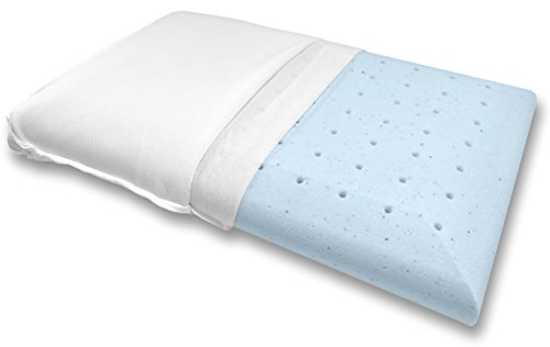 Bluewave Bedding Super Slim Gel Memory Foam Pillow for Stomach and Back Sleepers - Thin and Flat Therapeutic Design for Spinal Alignment, Better Breathing and Enhanced Sleeping