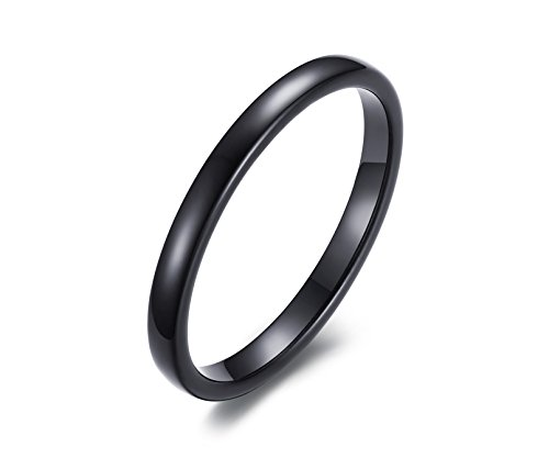 [8mm Black Tungsten Carbide Wedding Band Rings For Men Matte Finish Polished Beveled] (Horse Costume Class)