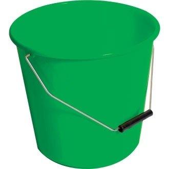 Jantex CD806 Winware Bucket, Round, Plastic, 10 L, Green Nisbets