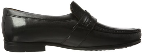 Clarks Claude Aston, Mocasines para Hombre, Negro Negro (Black Leather)
