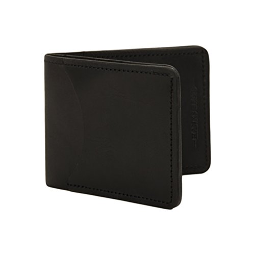 Hanks Tiny Leather Bi-Fold Wallet – SLIM – SIMPLE – INDESTRUCTIBLE – Multi Card Holder – USA MADE - Black
