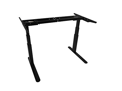 Reliant Electric Height-Adjustable Desk - Base Only (Silver) - Made in USA - 265 Lb Lift - Programmable Digital (Reliant Lift)
