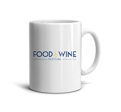 KDIHADGH Epcot Food Wine Festival White Brithday Gift Cup Souvenir Mug