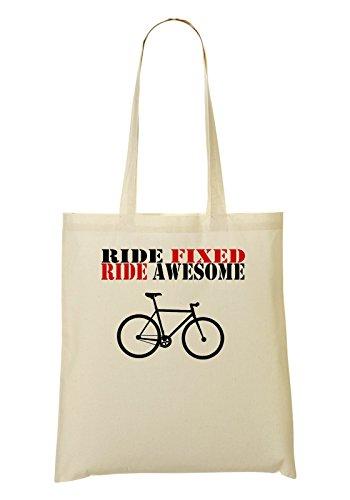 Ride Fixed Ride Awesome Bolso De Mano Bolsa De La Compra
