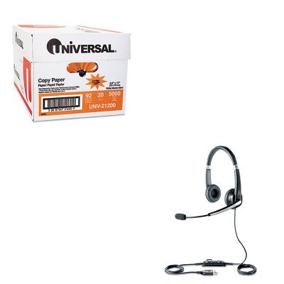 KITJBR5599829209UNV21200 - Value Kit - Jabra UC Voice 550 Binaural Over-the-Head Corded Headset (JBR5599829209) and Universal Copy Paper (UNV21200)