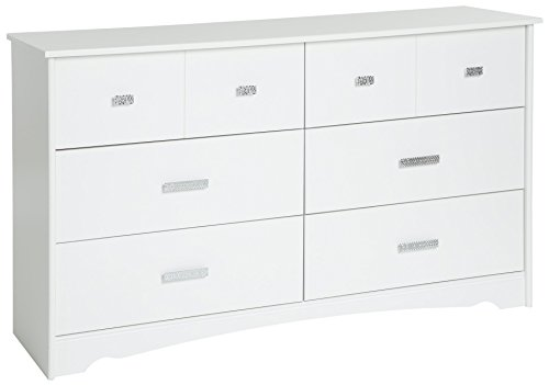 31NXaoHJuFL - South Shore Tiara 6-Drawer Double Dresser, Pure White