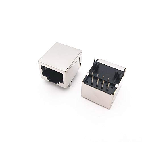 YOULITTY 50pcs/lot 56-8P8C Female Right Angle PCB Board Jack Connector Side-Entry RJ45 Connector Jacks 18.5mm Length