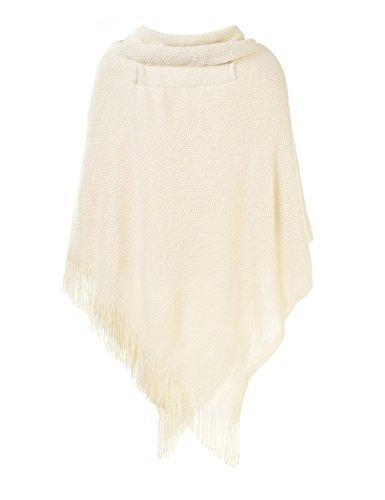 Femme Magnifique Boutons Cape Ouvert Ferand Pour Poncho en Corne Avec X0wddf