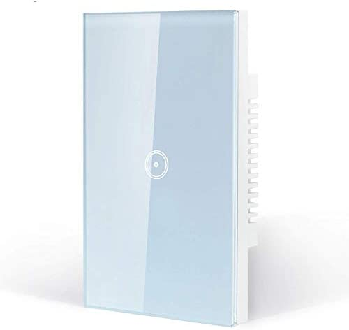 Smart Wifi Light Switch, Touch Wall Switch Panel, Compatible with Alexa, Remote Control Fixtures from Anywhere via Smartphone or Tablet, No Hub ...