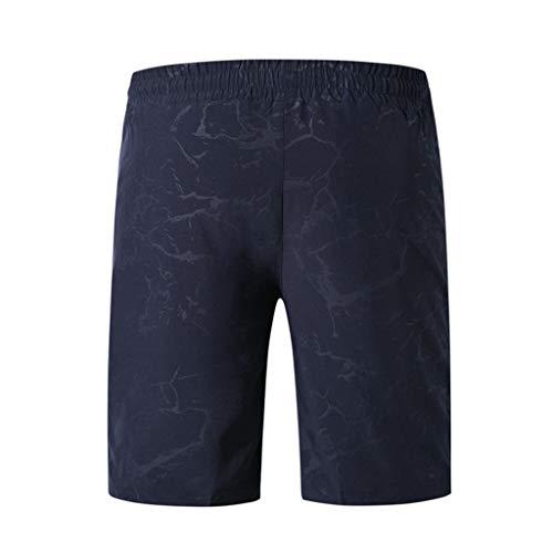 Séchage Impression Plage De Rapide Pantalon Foncé Surfant Mode Hommes Homme Bleu Un Short Nager Décontractée Magiyard Loose UYtCIxy
