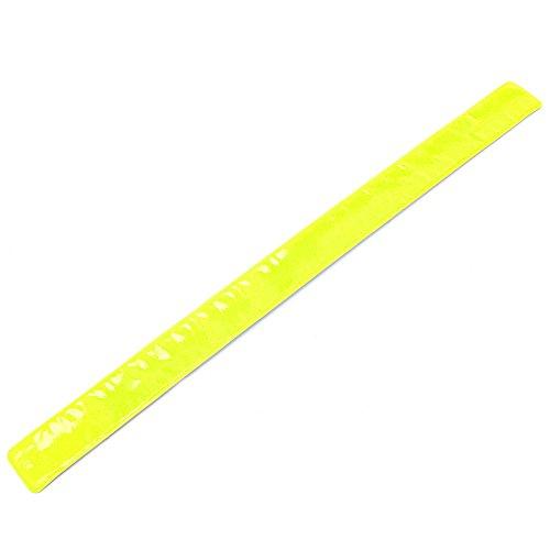 Reflective Safety Leg Bands (Stebcece Cycling Bike Bicycle Arm Leg Pant Reflective Band Strap Belt Safety Reflector (yellow))