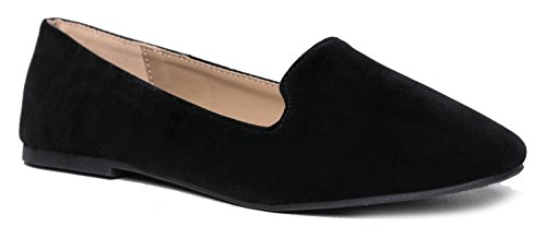 Classic Slip On Loafer - Women's Comfortable Low Flats - Diana Casual Walking Shoe