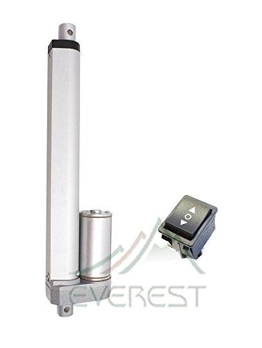 12  Inch Heavy Duty Linear Actuator 12V Polarity Switch Stroke 200Lbs Max Lift