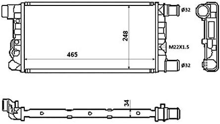 Radiatore Acqua Raffreddamento Motore Seicento 1.1 40 Kw