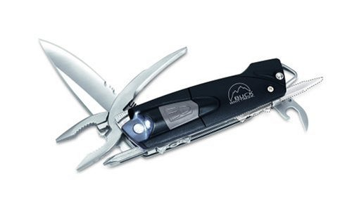 Buck 731 X-Tract LED One Handed Opening Multi-Tool with LED Light (Black), Outdoor Stuffs