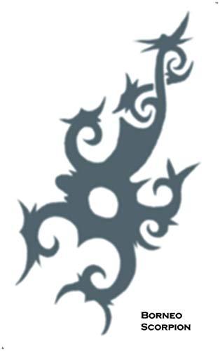 WMU Tattoo Tribal Borneo Scorpion- Case of 2