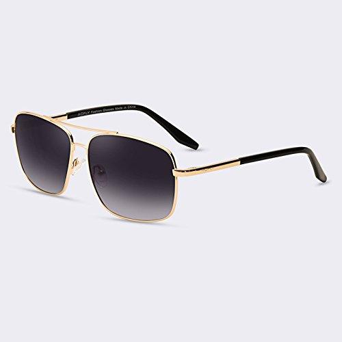 revestimiento degradado doble puente gafas de gafas C01Gradient TIANLIANG04 gafas hombres para polarizadas de HD Gray C01gris hombres sol de lentes wRPTvz