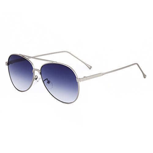 Royal Son UV Protected Aviator Unisex Sunglasses (WHAT2730|61|Blue)